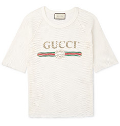 Gucci Printed Cotton-Mesh T-Shirt