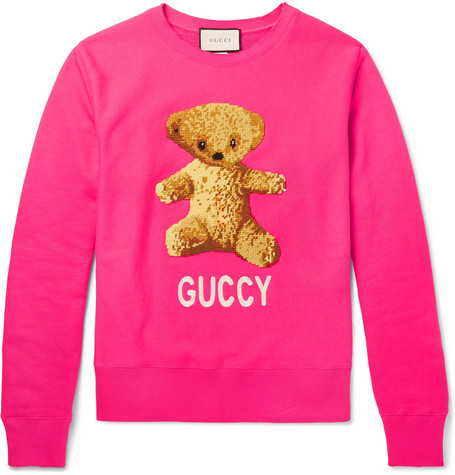 Gucci – Appliquéd Loopback Cotton-jersey Sweatshirt – Pink