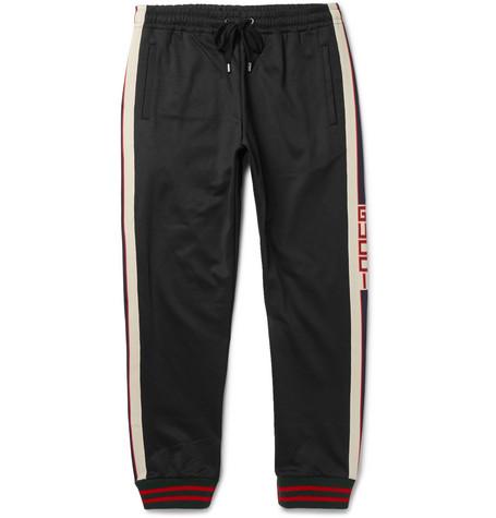 Striped Tech Jersey Sweatpants by Gucci