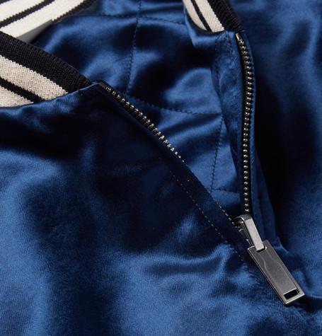 d1c431b31 Gucci - Reversible Webbing-Trimmed Satin-Twill Bomber Jacket