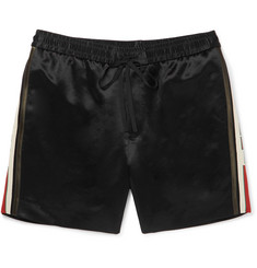 Gucci Webbing-Trimmed Satin-Twill Shorts
