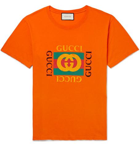 Gucci - Distressed Printed Cotton-Jersey T-Shirt 688c80c99b6a