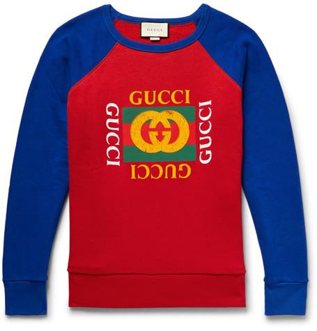Gucci – Printed Loopback Cotton-jersey Sweatshirt – Red