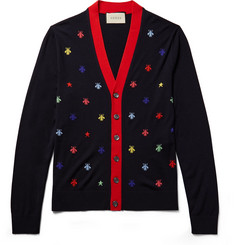 Gucci Slim-Fit Intarsia Wool Cardigan