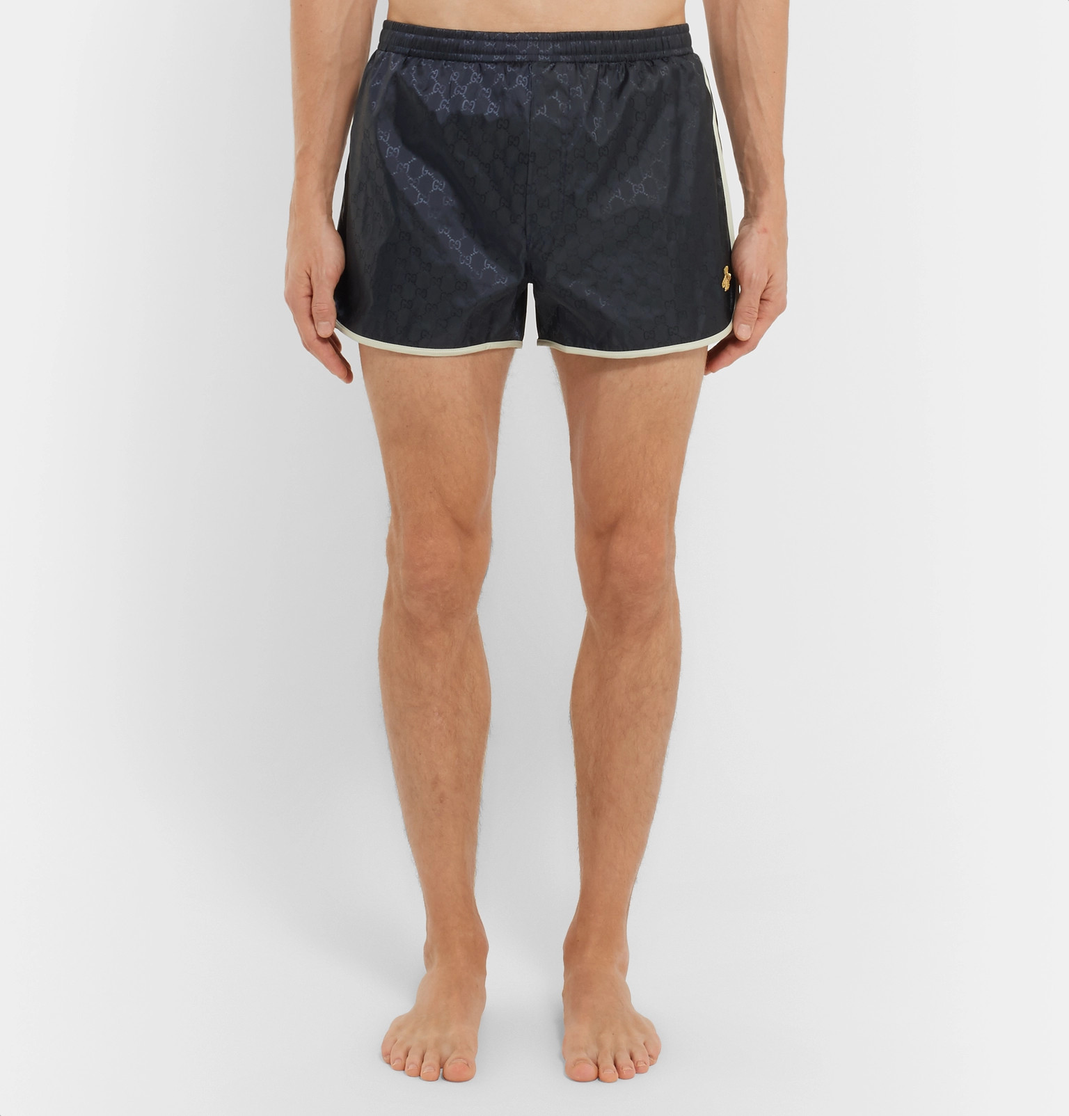 328ee094d5 Gucci - Short-Length Embroidered Jacquard Swim Shorts