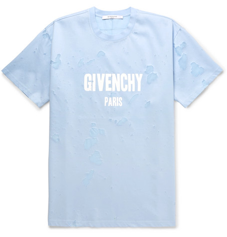 Slim-fit Distressed Printed Cotton-jersey T-shirt Givenchy Clearance Footlocker Finishline Comfortable Popular Cheap Price Cheap Fake pxcvSbF
