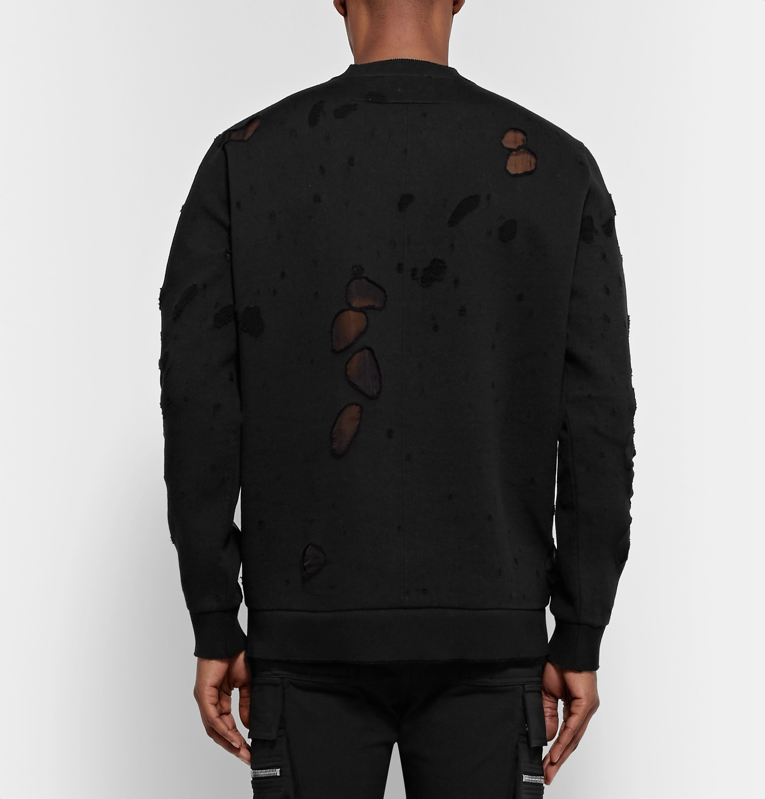 93af74ffb452b Givenchy - Cuban-Fit Distressed Printed Cotton-Jersey Sweatshirt