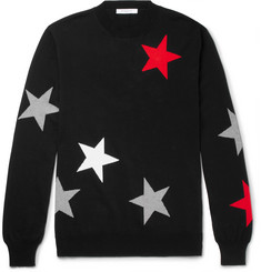 Givenchy Jacquard-Knit Cotton Sweater