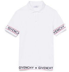 Givenchy Cuban-Fit Elastic-Trimmed Cotton-Piqué Polo Shirt