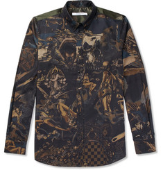 Givenchy - Button-Down Collar Printed Cotton-Twill Shirt