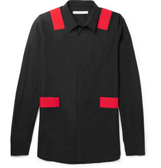 Givenchy - Panelled Cotton-Poplin Shirt
