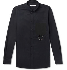 Givenchy - Cuban-Fit Button-Down Collar Embellished Cotton-Twill Shirt