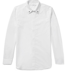 Givenchy Cuban-Fit Star-Embellished Cotton-Poplin Shirt