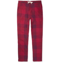 Oliver Spencer Loungewear - Checked Cotton Pyjama Trousers