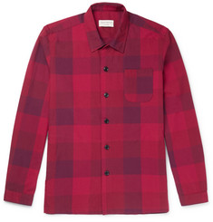 Oliver Spencer Loungewear - Checked Cotton Pyjama Shirt