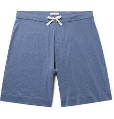 Oliver Spencer Loungewear Mélange Supima Cotton-Jersey Shorts