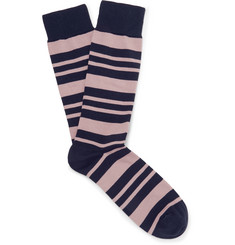 Oliver Spencer Loungewear - Miller Striped Stretch Cotton-Blend Socks