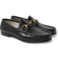 Gucci Roos Horsebit Leather Loafers