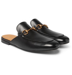 Gucci - Kings Horsebit Leather Backless Loafers
