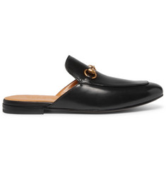 Gucci Kings Horsebit Leather Backless Loafers
