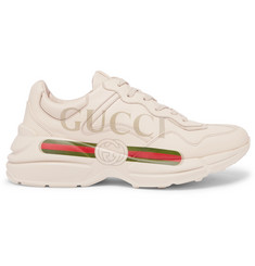 Gucci Rhyton Printed Leather Sneakers