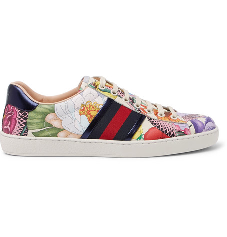 d10ced3dd Gucci - Ace Printed Leather Sneakers