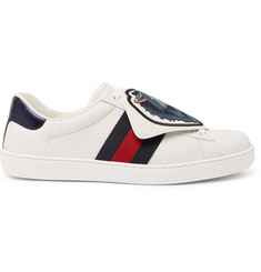 Gucci Ace Embellished Leather Sneakers