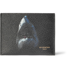 Givenchy - Shark-Print Pebble-Grain Leather Cardholder