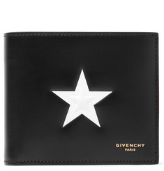 Givenchy Star-Embossed Leather Billfold Wallet