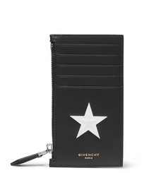 Givenchy Star-Embossed Leather Card Holder