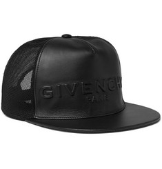 Givenchy - Leather and Mesh Baseball Cap
