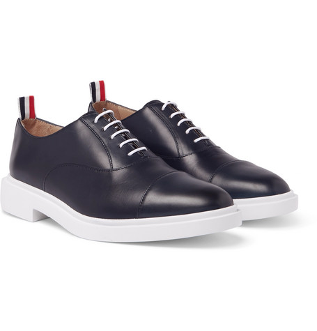 Thom Browne Cap Toe Leather Oxfords