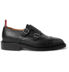 Thom Browne Pebble-Grain Leather Monk-Strap Shoes