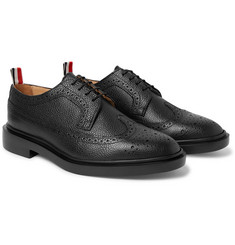Thom Browne - Pebble-Grain Leather Longwing Brogues