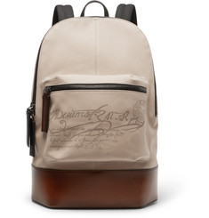 Berluti - Volume Large Canvas and Leather Backpack