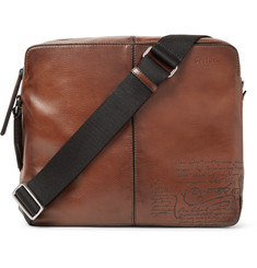 Berluti Monolithe Medium Leather Messenger Bag