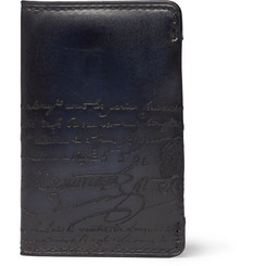 Berluti Scritto Embossed Leather Cardholder