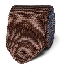 Berluti - 6cm Reversible Knitted Silk Tie