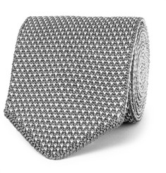 Berluti 6.5cm Reversible Two-Tone Knitted Silk Tie