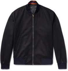 Paul Smith Slim-Fit Wool and Cashmere-Blend Bomber Jacket