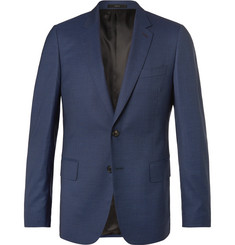 Paul Smith Blue Soho Puppytooth Wool and Silk-Blend Suit Jacket