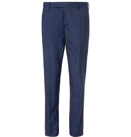Blue Soho Puppytooth Wool And Silk-blend Suit Trousers Paul Smith Cheap Visit ap096b