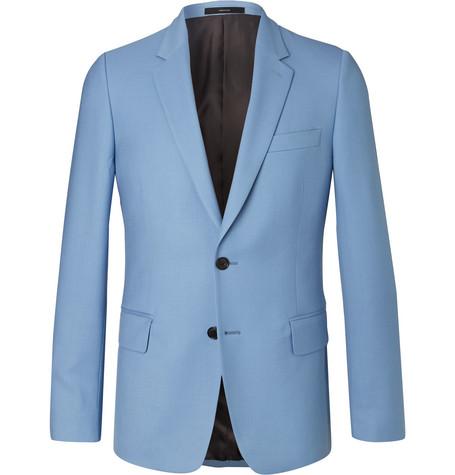 excellent Royal-blue Soho Slim-fit Cotton Trousers - Bright bluePaul Smith Magasin De Jeu En Ligne wRRx1b