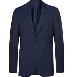 Paul Smith Navy Soho Slim-Fit Stretch-Wool Blazer