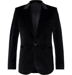 Paul Smith Black Soho Stretch-Cotton Velvet Tuxedo Jacket
