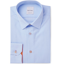 Paul Smith Light-Blue Soho Slim-Fit Cotton-Twill Shirt