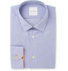 Paul Smith Blue Soho Slim-Fit Striped Cotton Shirt