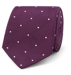 Paul Smith 7cm Polka-Dot Embroidered Silk Tie