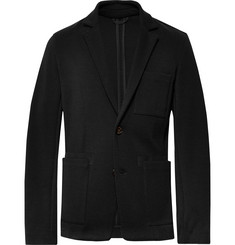 Berluti Black Slim-Fit Unstructured Nubuck-Trimmed Wool Blazer
