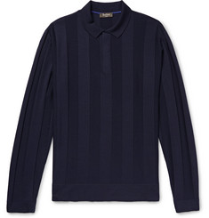 Berluti Slim-Fit Striped Wool Polo Shirt